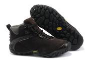 Зимние кроссовки Merrell с меховым утеплением коричневые