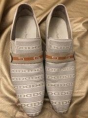 Туфли мужские светлые с перфорацией
